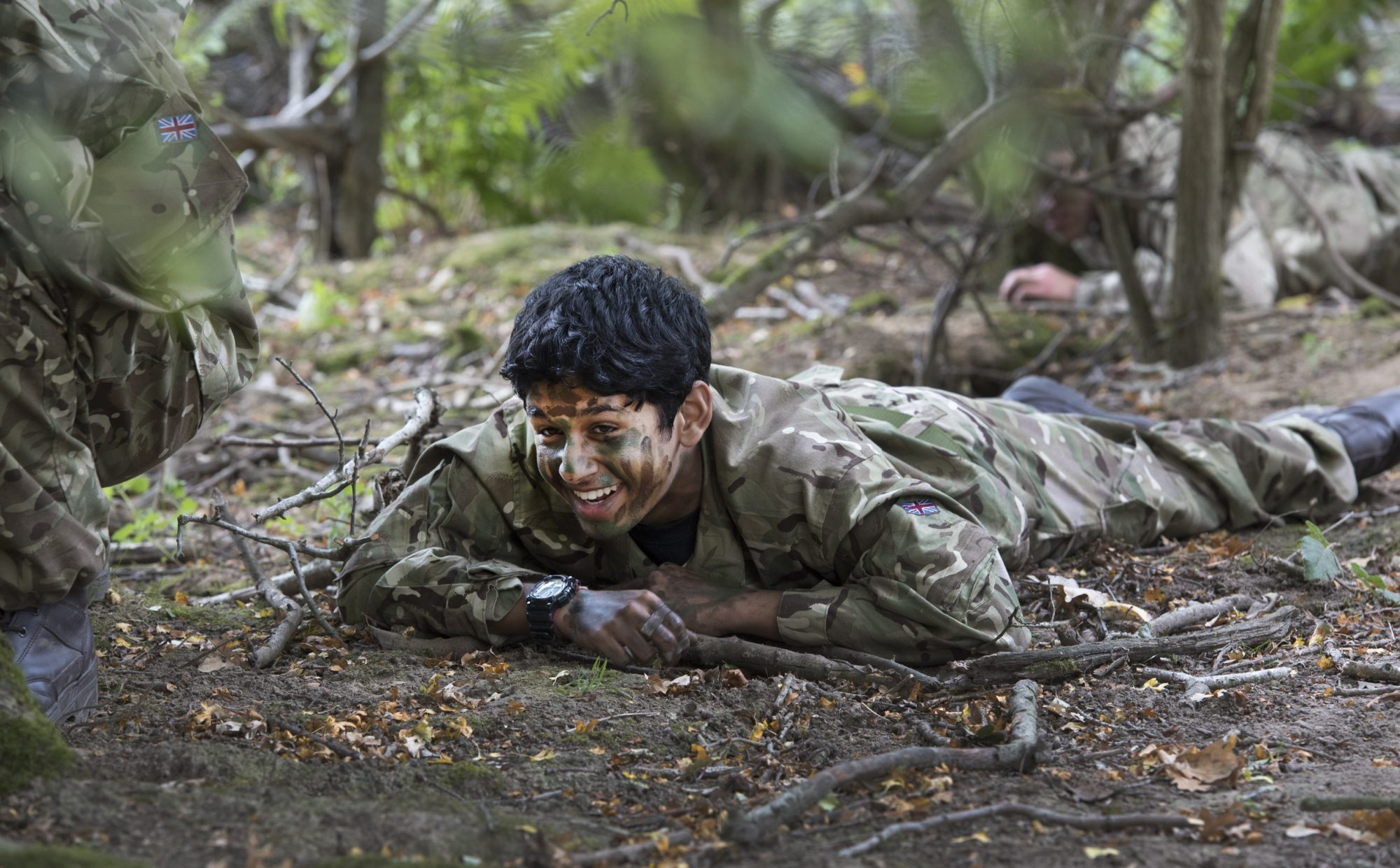 Magdalen College School pupil doing Combined Cadet Force training