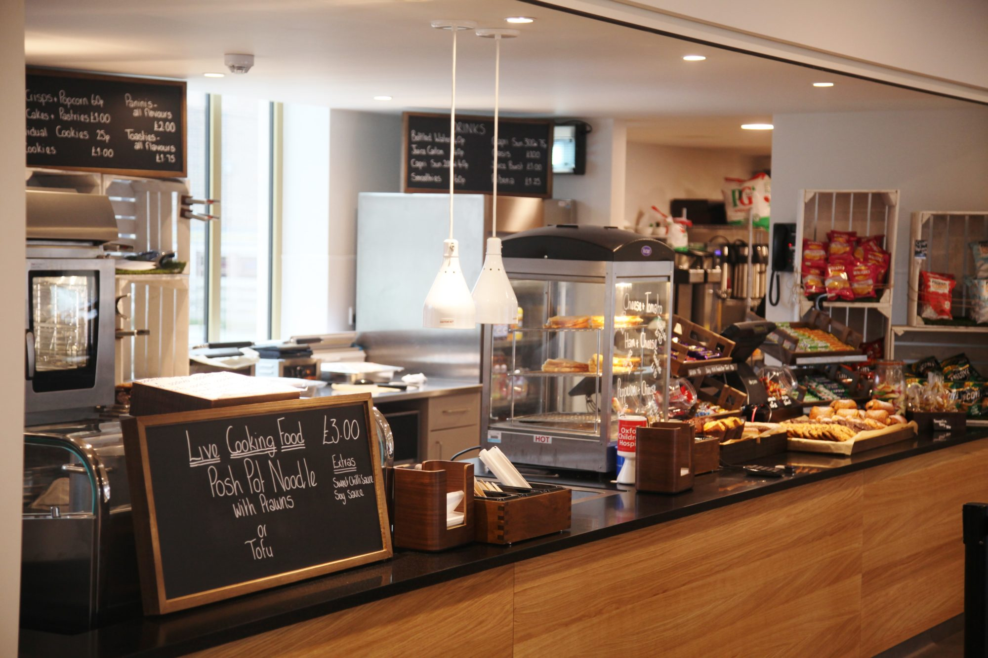 Fresh food in the cafe at Magdalen College School