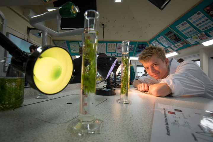 Pupil studying Biology A-level at Magdalen College School