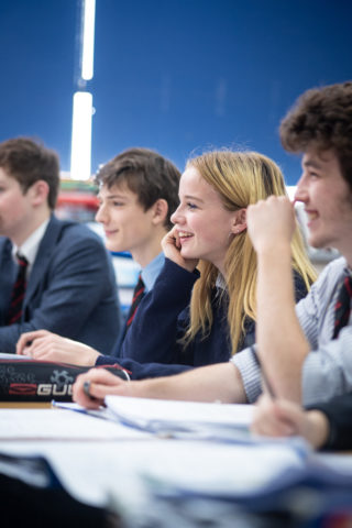 Pupils studying Pre-U History in Sixth Form at Magdalen College School