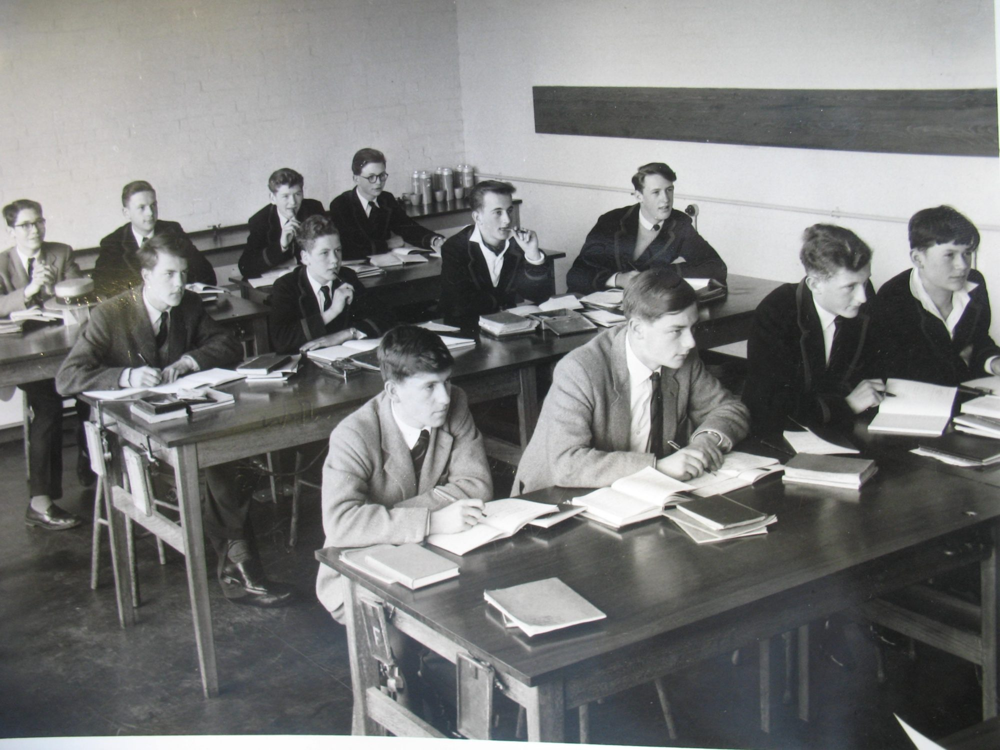 Magdalen College School pupils sitting at desks in classroom - archive photo