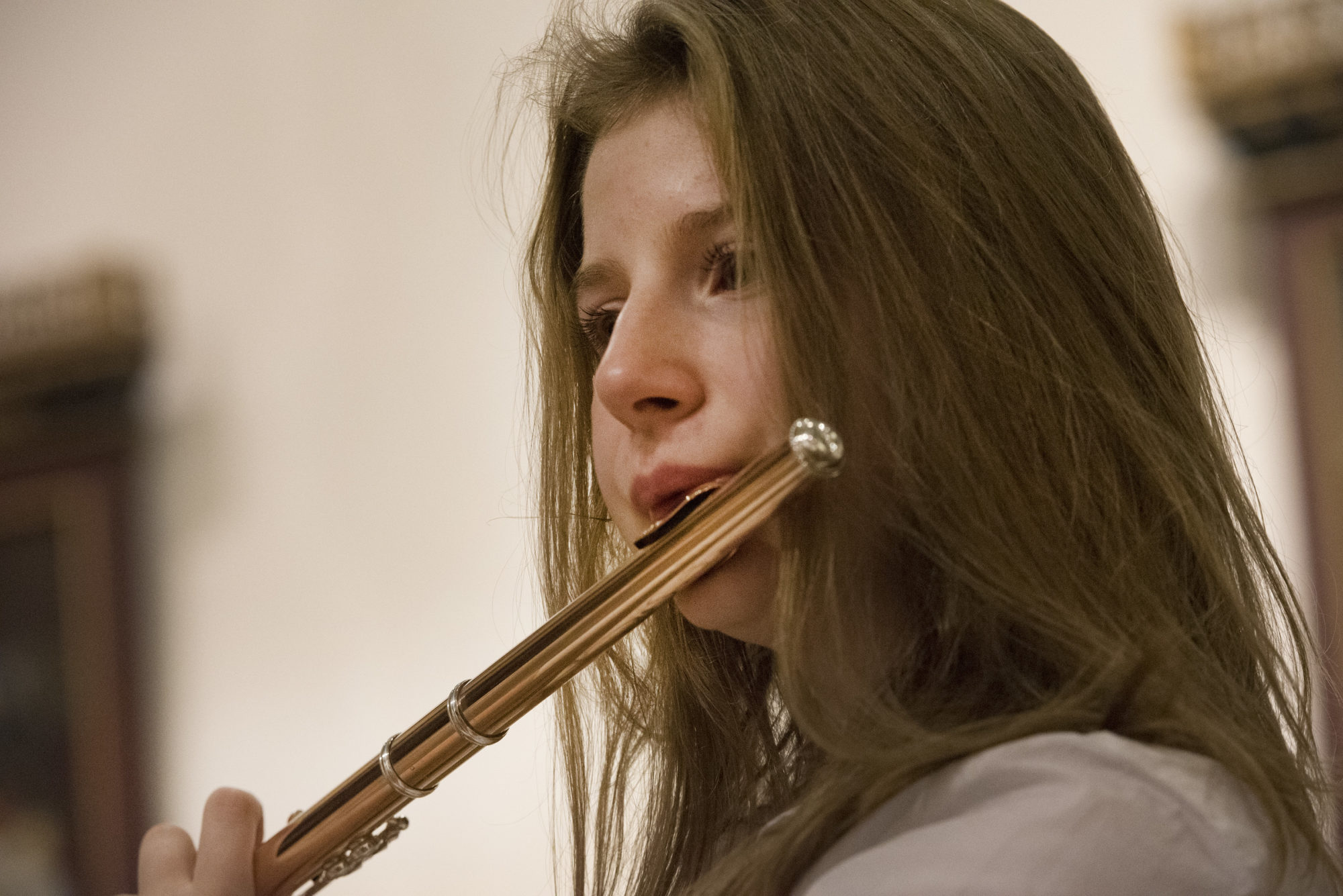 Magdalen College Sixth Form Music pupil playing the flute