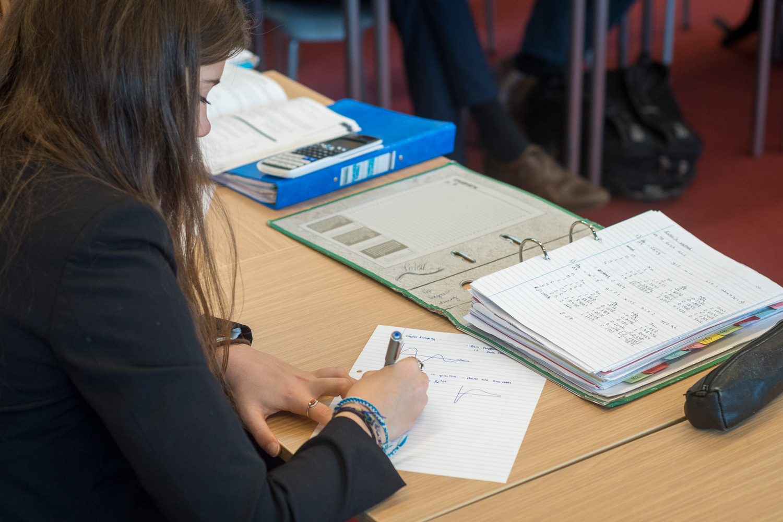 Magdalen College School Sixth Form pupil preparing Waynflete Studies assignment