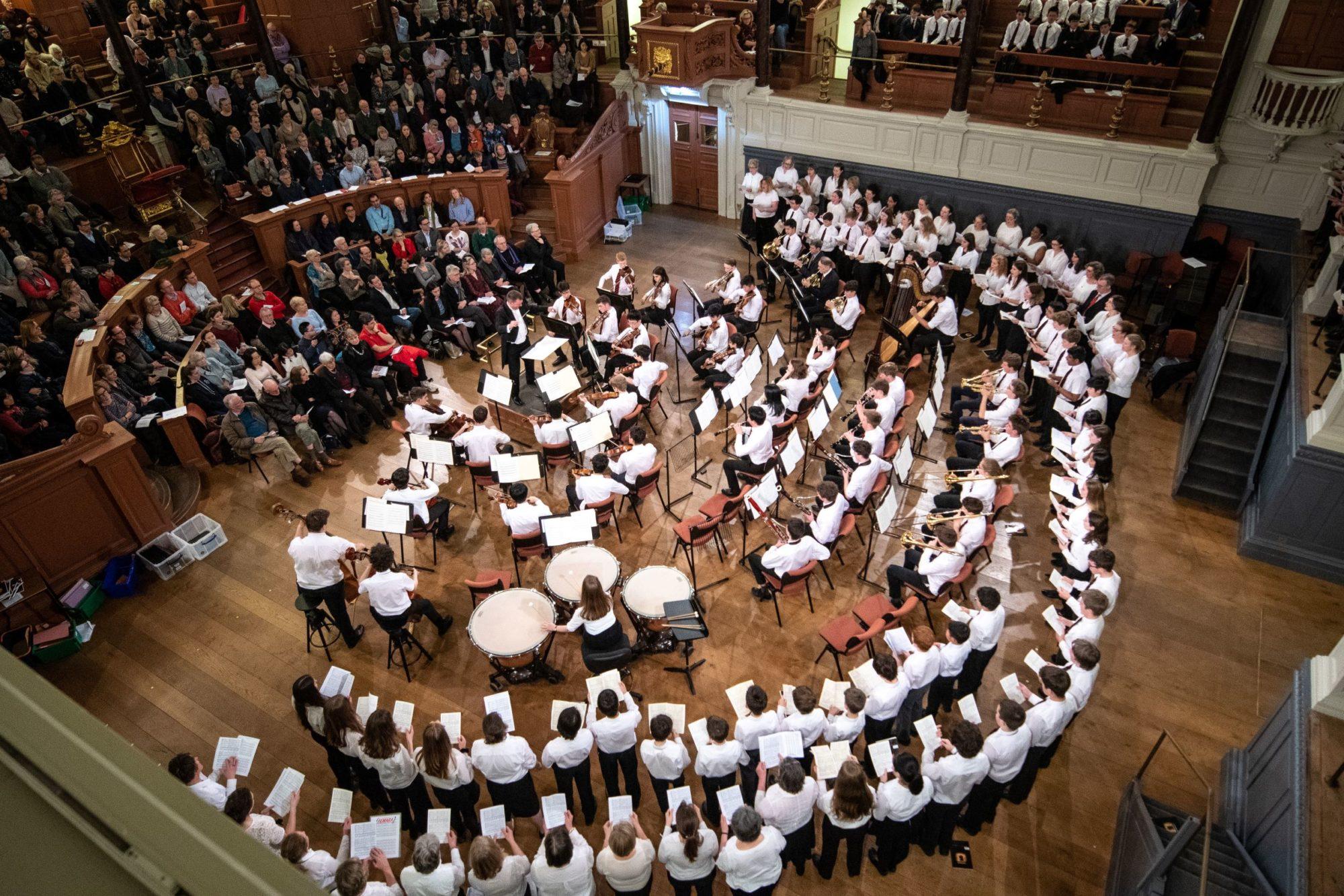 Magdalen College School pupils perform in concert at Sheldonian Theatre