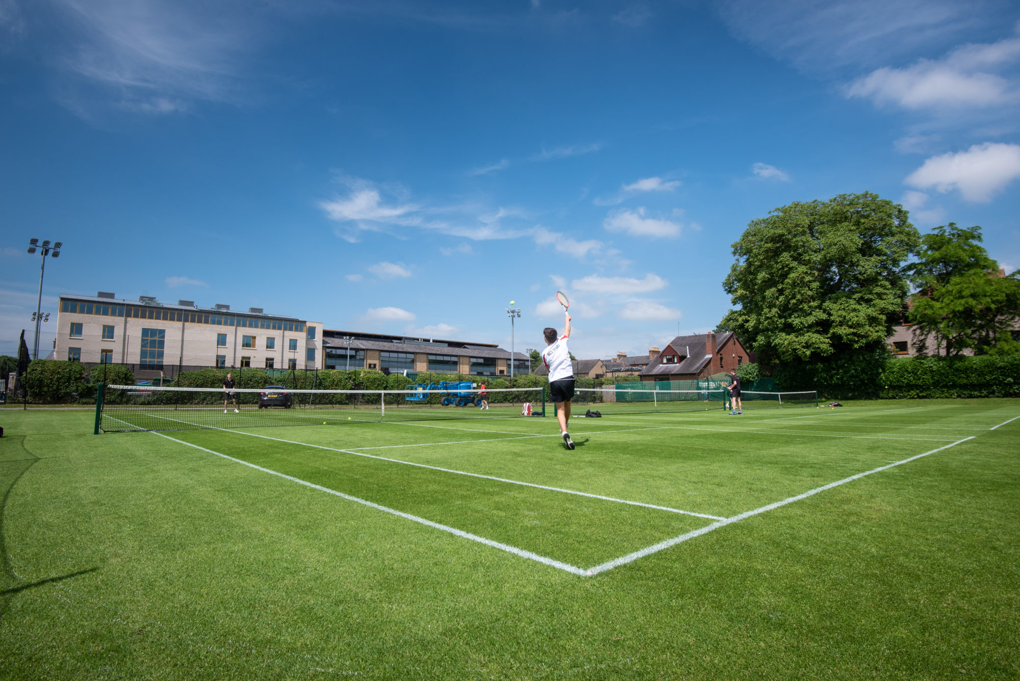 Magdalen College School pupil plays tennis