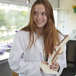 Sixth Form pupil studying Science at Magdalen College School Oxford