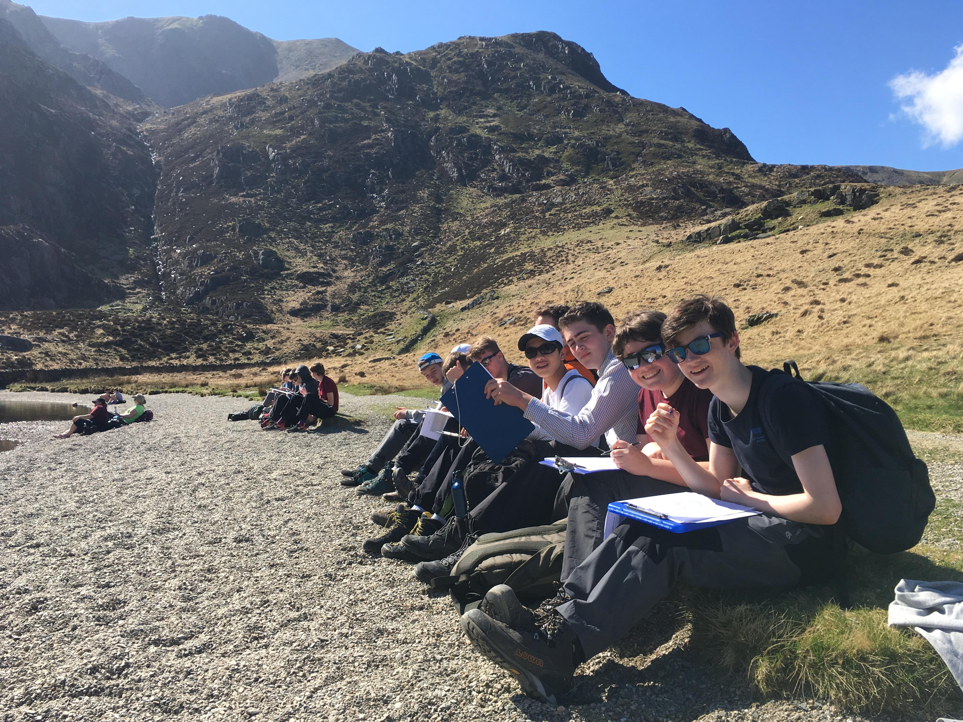Magdalen College School pupils on Geography school trip