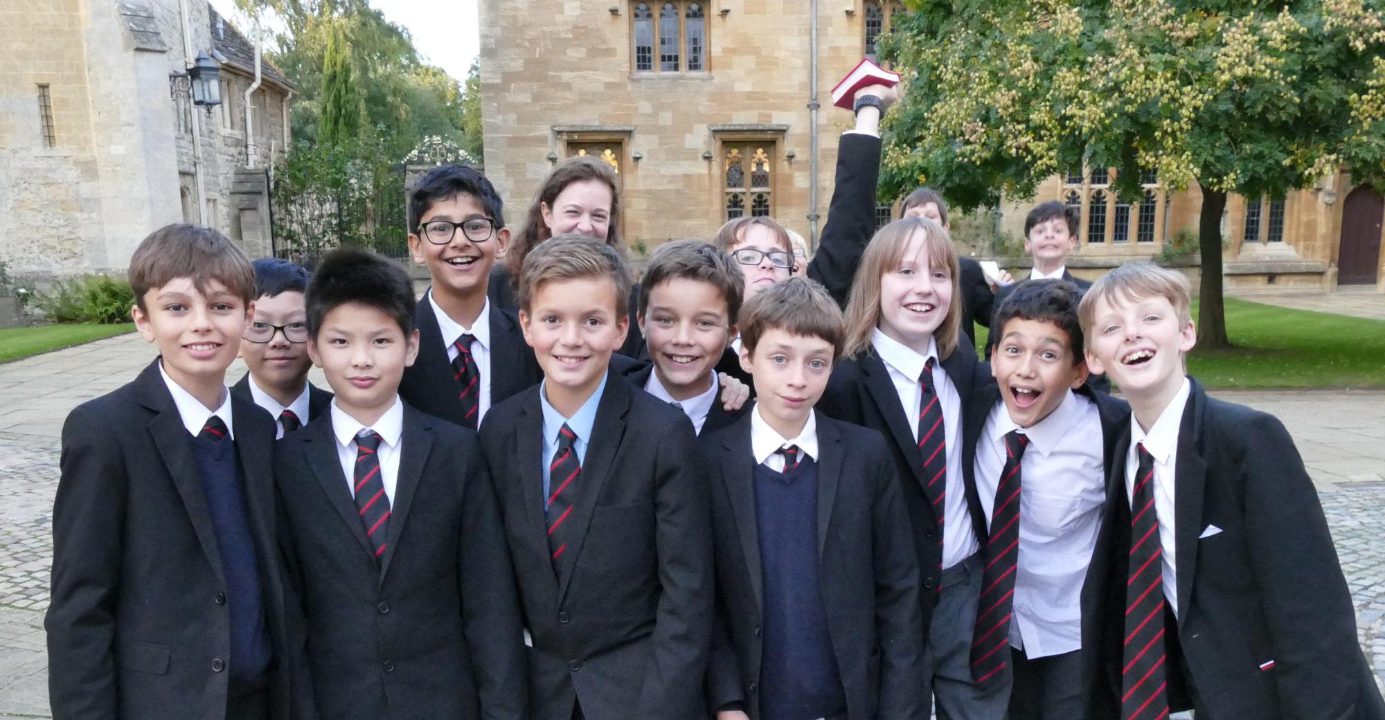 Magdalen College Senior School pupils in uniform