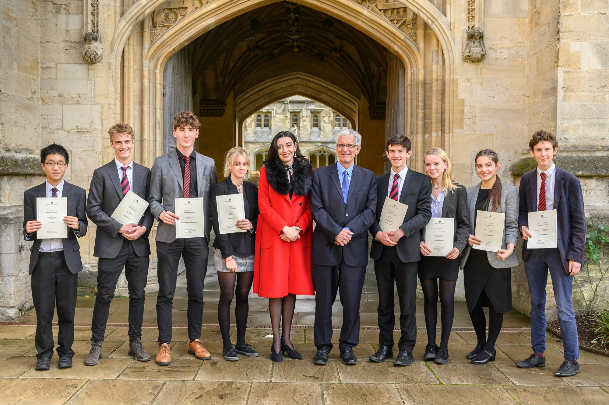 Magdalen College School Sixth Form pupils at Waynflete Studies Prize Giving Event