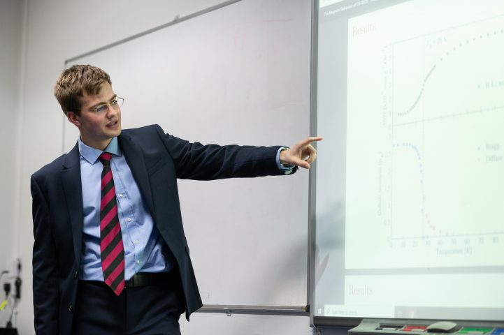 Magdalen College School Sixth Form Pupil Presenting Maths Project 1