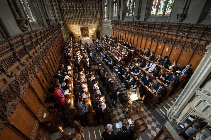 Magdalen College School pupils in chapel