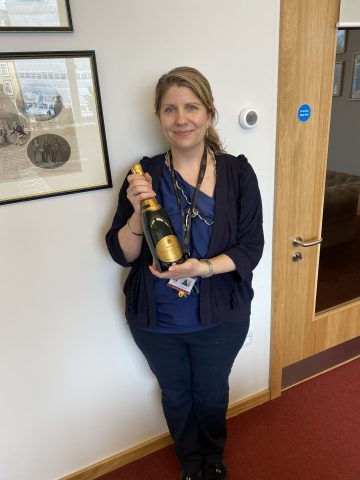 Magdalen College School Archivist Lindsay McCormack Celebrating Accredited National Archive Status