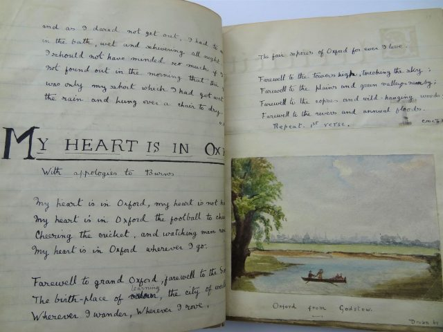 'My Heart Is In Oxford' From 'Snow Flakes' Scrapbook By Noel & Christopher Chavasse (1900 01) Magdalen College School pupi