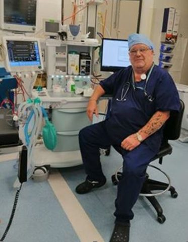 Russell Barker, Old Waynflete, Anaesthetic Technician at North Shore Hospital in Auckland, New Zealand.