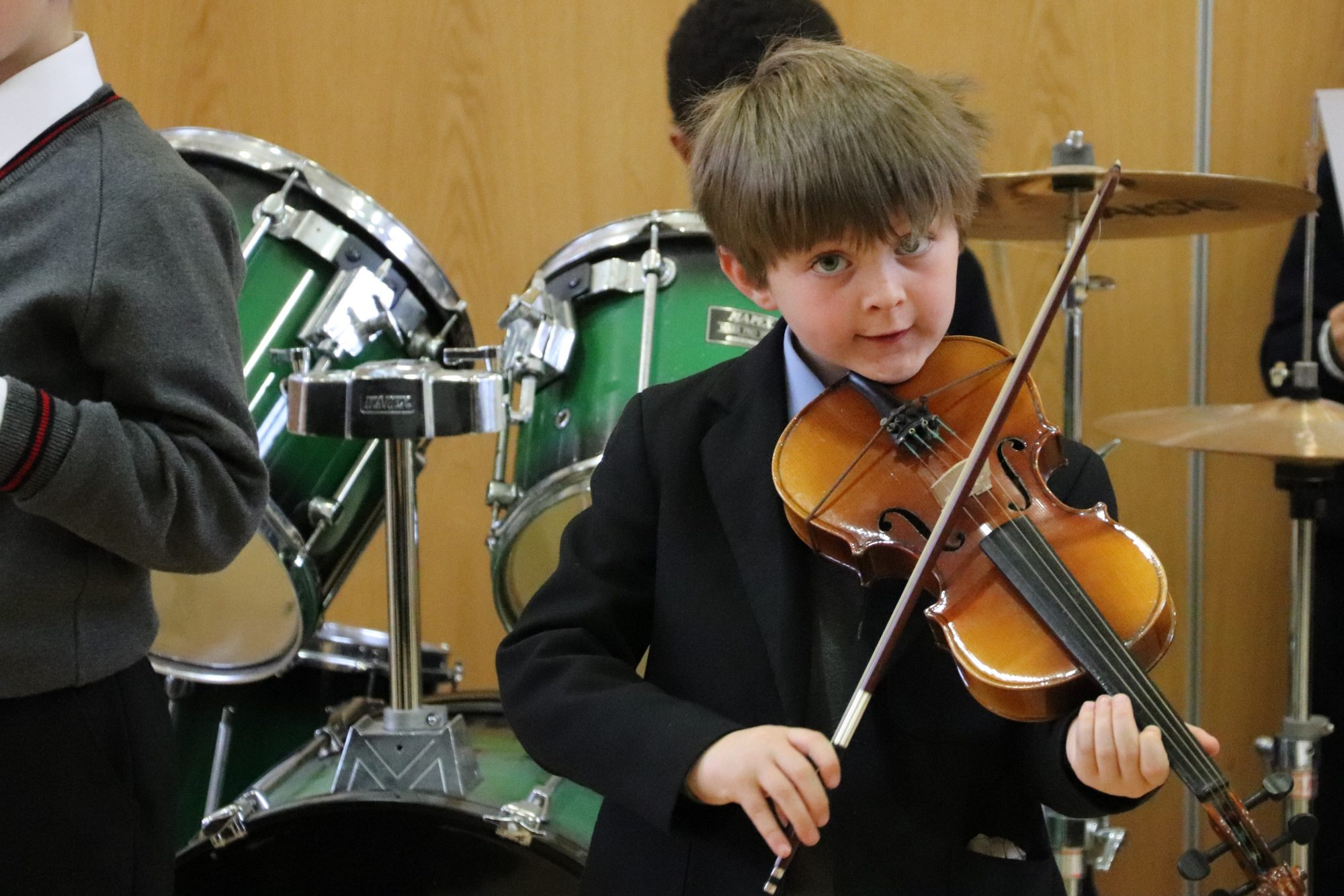 Magdalen College Junior School pupil playing violin